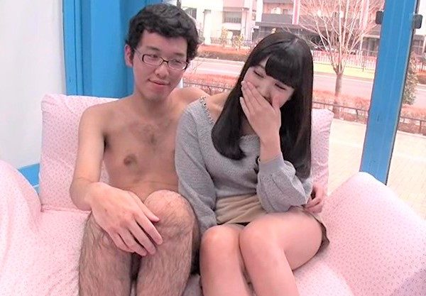 Gカップの神乳素人娘♡色白美女とのエッチをハメ撮りしたエロ動画!