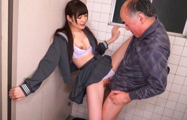【JK×橋本ありな】スレンダーな激カワ美少女のお姉さんと濃厚セックスwセーラー服姿で着衣セックスを撮影したエロ動画